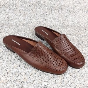 Naturalizer Brown Leather Slip-on Flats 9W